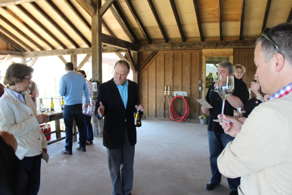 Jim Law explains the chardonnays.